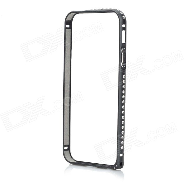 Protective Aluminum Alloy Frame Bumper Case for IPHONE 5 / 5S - Black protective aluminum alloy bumper frame case for iphone 5 5s black