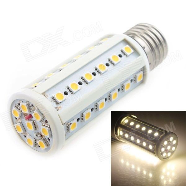 Epistar E27 7W 490lm 3000K Warm White 44-SMD 5050 LED Light Bulb - White (AC 85~265V) lexing e14 7w 540lm 14 smd 5730 led warm white light bulb ac 85 265v