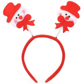 Cute Doll Patterned Christmas Head Hoop Decoration - White + Red