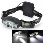 Pange Water-proof 200lm 3-Modes 3-LED Cold White Light Headlamp - Black (3 x AA)