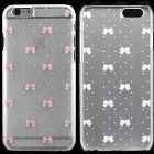 Sweet Bowknot Pattern Hard Back Cover PC Case for IPHONE 6 -Translucent + Pink
