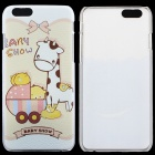 """Baby Pattern Thin Protective PC Back Cover Case for 4.7"""" IPHONE 6 - White + Yellow + Multicolored"""