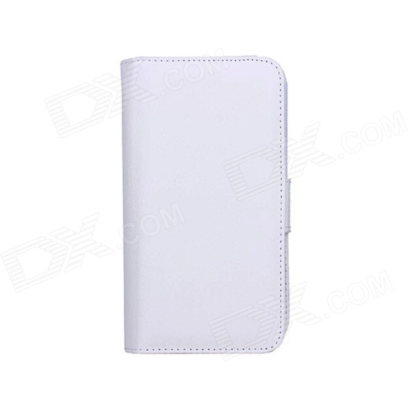 Wallet Style PU Leather Case w/ Holder for Samsung Note 4 - White кошелек leather pu 2015 d108 wallet