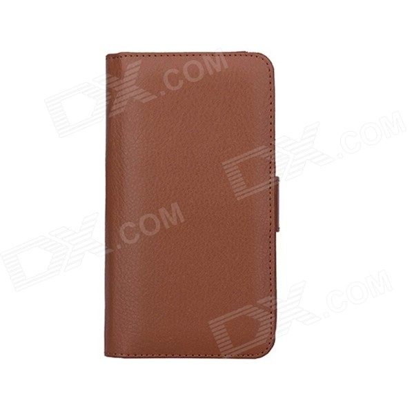 Wallet Style PU Leather Case w/ Holder for Samsung Note 4 - Brown кошелек leather pu 2015 d108 wallet