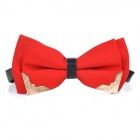 Men's Fashionable Bowknot Bridegroom Groomsman Formal Dress Bow Tie - Red
