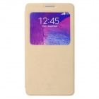 Baseus Terse PU Leather Case w/ Holder + Window for Samsung Galaxy Note 4 - Khaki