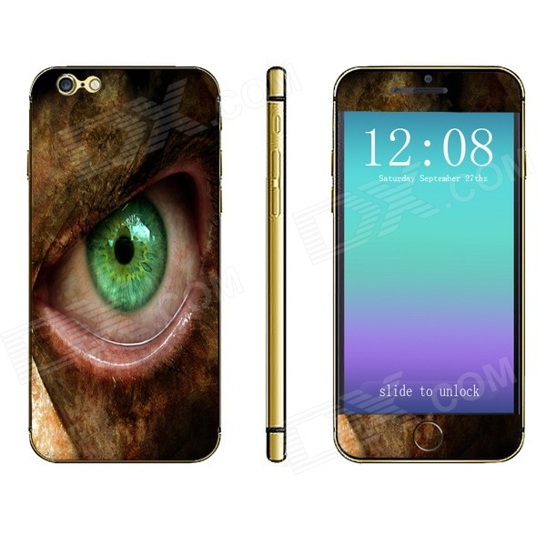 Stylish Green Eyed Monster Pattern Front + Back Decorative Sticker Set for IPHONE 6 PLUS 5.5