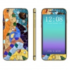 "Stylish Patterned Front + Back Decorative Stickers Set for IPHONE 6 4.7"" - Multicolored"