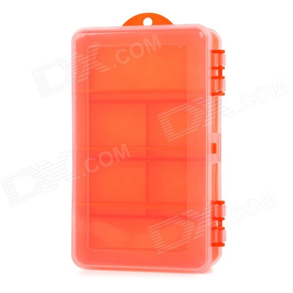 ZJT306 Large-Capacity Double-Sided Fishing Tackle Lure Bait Hook Storage Box Case - Red Orange