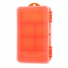 Large-Capacity Double-Sided Fishing Tackle Lure Bait Hook Storage Box Case - Red Orange