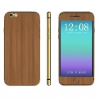 """Protective Wood Pattern Front + Back Decorative Stickers Set for IPHONE 6 4.7"""" - Wood"""