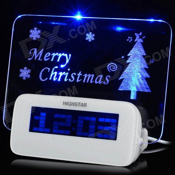 Creative Christmas 0.5W 5V 2-LED Clock w / 1-to-4 HUB - Branco