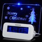 Creative Christmas 0.5W 5V 2-LED Clock w/ 1-to-4 HUB - White
