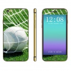 "Stylish Football Pattern Front + Back Decorative Stickers Set for IPHONE 6 4.7"" - Green + White"