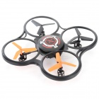 JJRC 600A 2.4GHz 4-CH R/C Quadcopter w/ Gyroscope / Lamp - Black + Orange + Multi-Color (4 x AA)