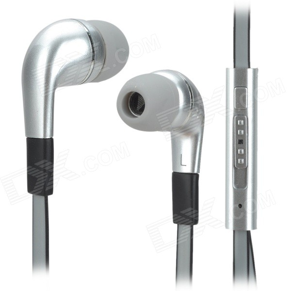 Stylish In-Ear Earphones w/ Microphone / Cable Control - Grey (3.5mm Plug / 125cm-Cable) pny stylish in ear earphones silver 3 5mm plug 110cm cable