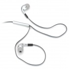 Stylish In-Ear Earphones w/ Microphone / Cable Control - Grey (3.5mm Plug / 125cm-Cable)