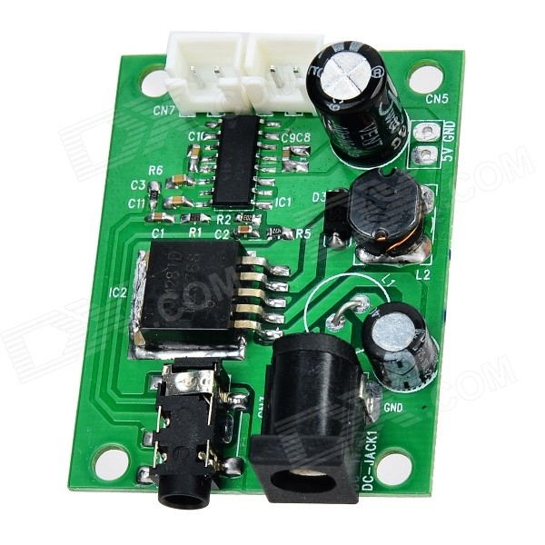 JF0723M Dual Channel Stereo Audio tablero del amplificador - Verde (DC 5 ~ 24V)