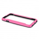 "Protective TPU Bumper Frame Case for IPHONE 6 4.7"" - Black + Deep Pink"