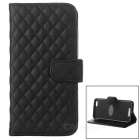 Protective Flip-Open Sheepskin Case w/ Card / Money Slots for IPHONE 6 PLUS - Black