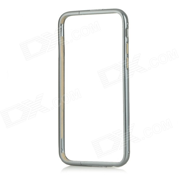 Protective Aluminum Alloy Bumper Frame Case w/ Foldable Stand for IPHONE 6 - Grey
