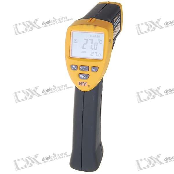 "2.0"" LCD Non-Contact Digital Infrared Thermometer with Laser Sight (-20°C ~ 320°C)"