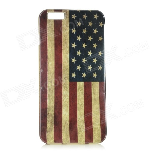 American Flag Patterned Protective Plastic Back Case Cover for IPHONE 6 PLUS - Red + Blue imd patterned tpu gel cover for iphone 7 plus 5 5 inch tribal dream catcher