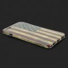 American Flag Patterned Protective Plastic Back Case Cover for IPHONE 6 PLUS - Red + Blue