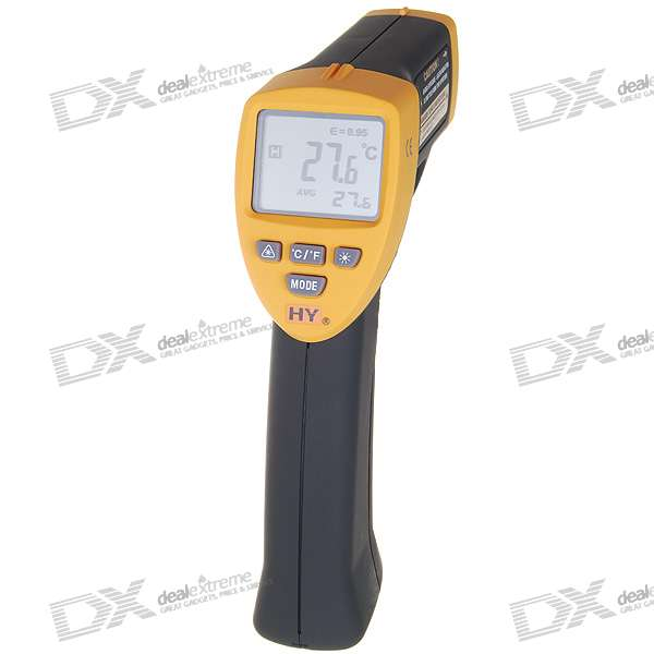 "2.0"" LCD Non-Contact Digital Infrared Thermometer with Laser Sight (-20°C ~ 530°C)"