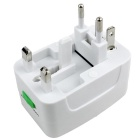 Universal Travel 10A US / EU / UK / AU Plug Power Conversion Socket - White (110~240V)
