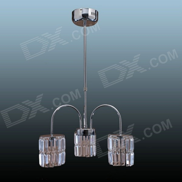 Conca X98006 DIY Chandelier Crystal Ceiling Lamp Base Holder w/ 3 x E14 Connectors - Silver