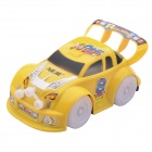 NEJE ST0007-1 Music & Flashing Light Likable Racing Car Toy - Yellow (3 x AA)