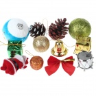 Christmas Decorations Mixed Hybrid Package - Multi-Color (12 PCS)