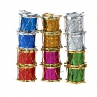 Christmas Gold-Plated Drum Hanging Decoration - Multi-colored (12PCS)
