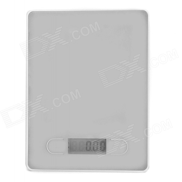 "1.75"" Display Digital Kitchen Scale - Silver + White (5000g / 1g / 2 x AAA)"