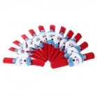 Christmas Cute Animal Style Ring Decoration - Red + Blue + White (12 PCS)