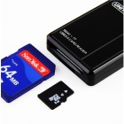 UNITEK Y-9315 5Gbps 2-Slot USB 3.0 SD / SDHC / SDXC / TF Card Reader - musta