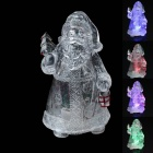 ABS Lovely Christmas Decorative Santa Claus w/ LED - White