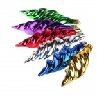 Christmas Decorative Gold-Plated Candy Style Pendant - Multi-Color (6 PCS)