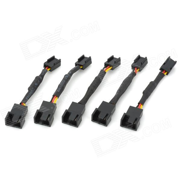 3-Pin PC Cooling Fan Speed/Noise Reduction Cable (5-Piece Set)