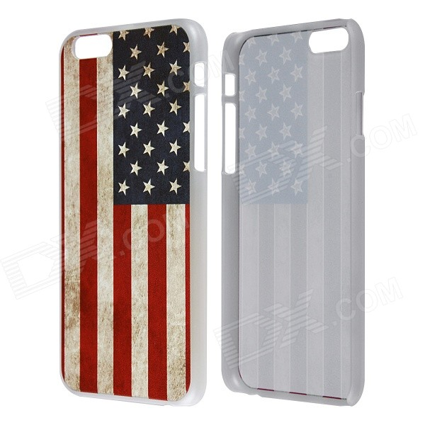 Retro Relif Style American US Flag Pattern Protective PC Back Case for IPHONE 6 4.7 protective retro american flag pattern back case for iphone 5 multicolored