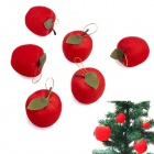 Christmas Tree / Party Decorative Apples Set - Red (6 PCS)