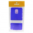 ENKAY Protective TPU Back Case Stand for Samsung Galaxy Note 4 N9100 - Blue + White
