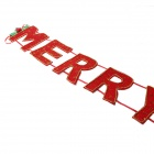Merry Christmas Letters Banner Xmas Hanging Decoration Ornament - Red + Green + Gold
