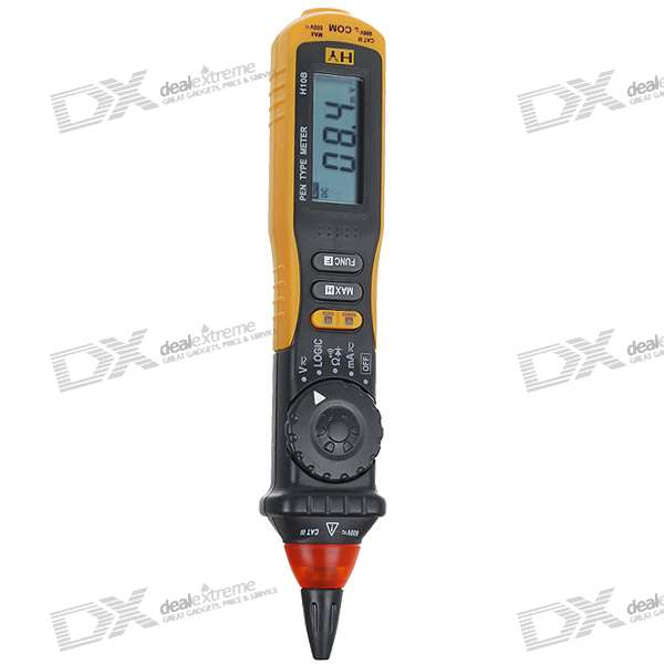 "H10B 1.8"" LCD Digital Auto Range Pen Type Multimeter (2*AAA)"
