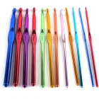 12-in-1 Professional Sweater Clothes Crochet Hooks Bearded Needles Kit - Blue + Gold