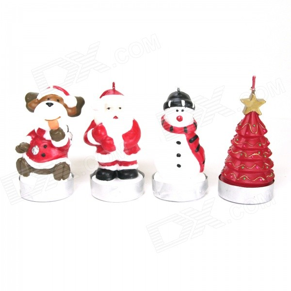 FEIS Paraffin Wax Christmas Candles Set - White + Red (6 Boxes)