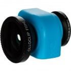 Genuine Olloclip 3-in-1 Fisheye + Wide-Angle + Macro Lens System for IPHONE 5C - Blue + Black
