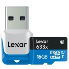 Lexar 16GB Class 10 Micro SDHC Flash Memory Card Up to 95 MB/s w/ Adapter (LSDMI16GBBNL633)