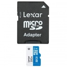 Lexar 32GB Class 10 microSDHC Flash Memory Card up to 45MB/s with Adapter (LSDMI32GBBNL300)